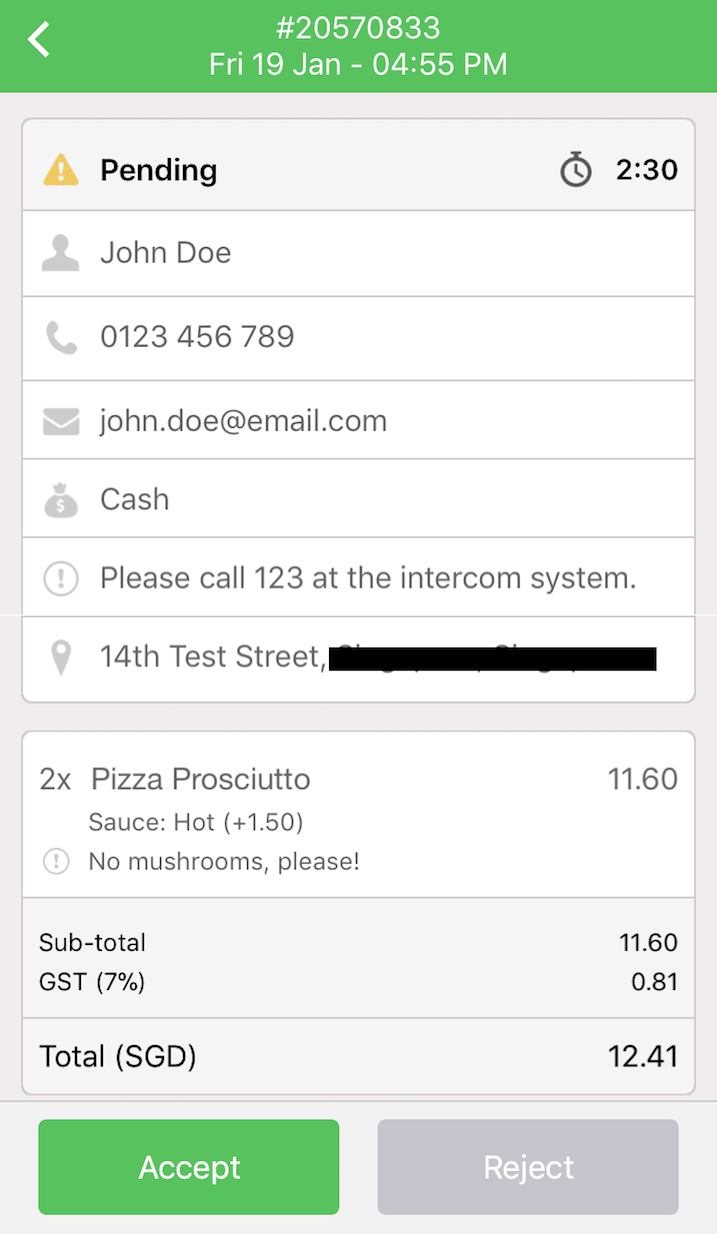 pos system order confirmation settings