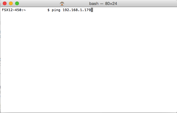 mac ping ip address