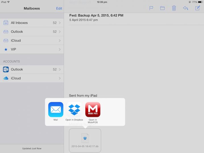 pos system restore via email