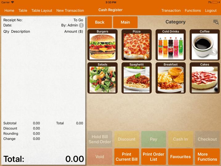 pos system                  menu gesture cash register settings