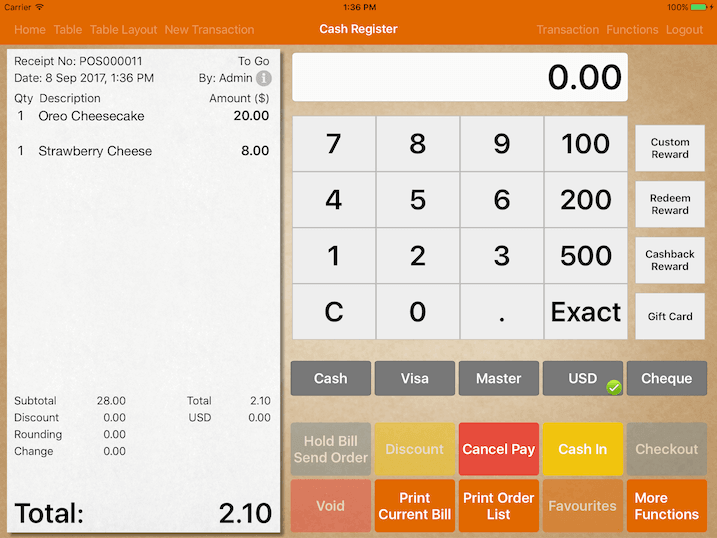 pos system alternate pay by alternate currency