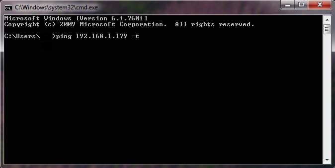 windows ping ip address